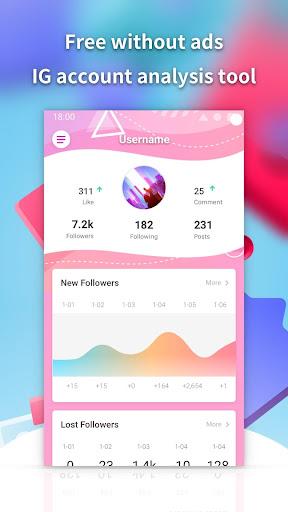 Followers insight for Instagram-reports tracker screenshots 1