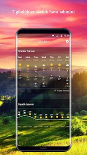Hava durumu widget'ı Screenshot