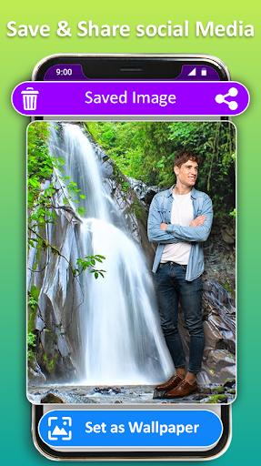 Photo Editor Frames: Water fall Background screenshot 12