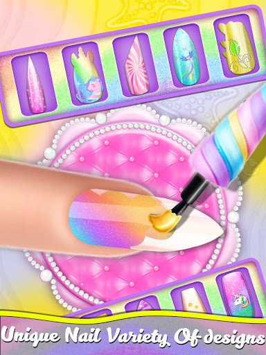 Manicure Nail Salon- Unicorn Fashion Game for Girl apkdebit screenshots 13
