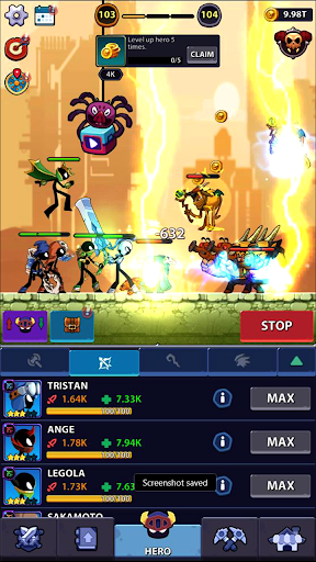 Idle Stickman Heroes: Monster Age apkmr screenshots 2