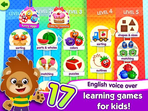 FunnyFood Kindergarten learning games for toddlers 2.4.1.19 Screenshots 9