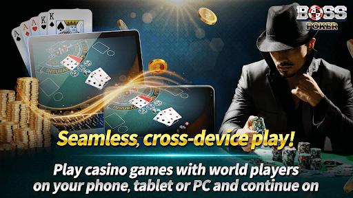 Boss Poker u2013 Texas Holdem Blackjack Baccarat Apkfinish screenshots 2