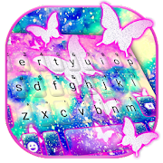 Shining Butterfly Galaxy Keyboard Theme