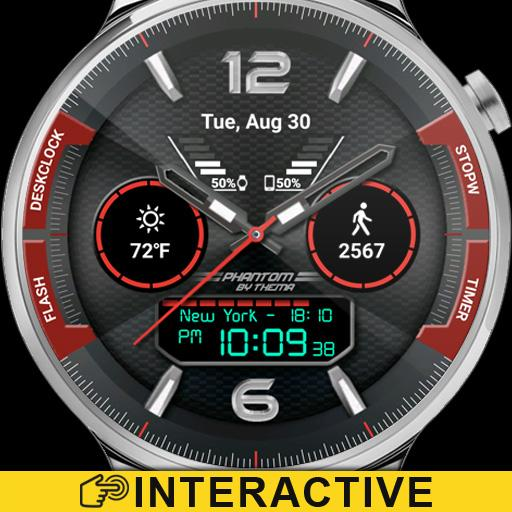 Phant Watch Face & Clock Widget Icon