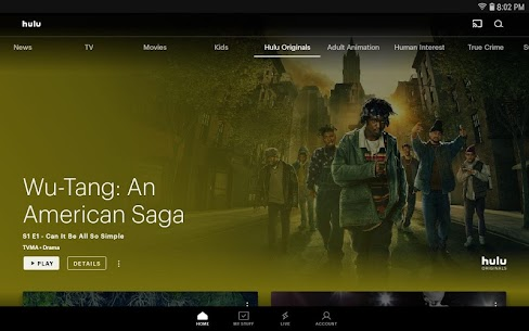 Hulu for Android TV 1