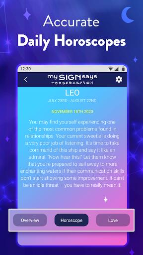 Mysignsays Love Horoscope Zodiac Tarot Cards App Store Data Revenue Download Estimates On Play Store