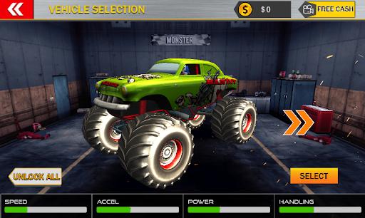 Monster Mega Truck Jump 3D Race Simulator apklade screenshots 1