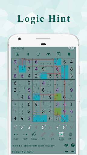 Ninja Sudoku - Classic & Killer Sudoku logic hint Apkfinish screenshots 1