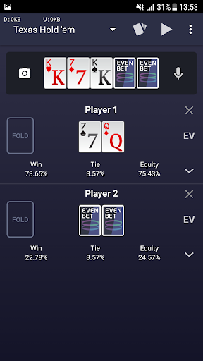 Evenbet Poker Calculator