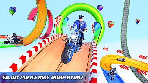 Police Bike Stunt Games: Mega Ramp Stunts Game 1.1.0 screenshots 9