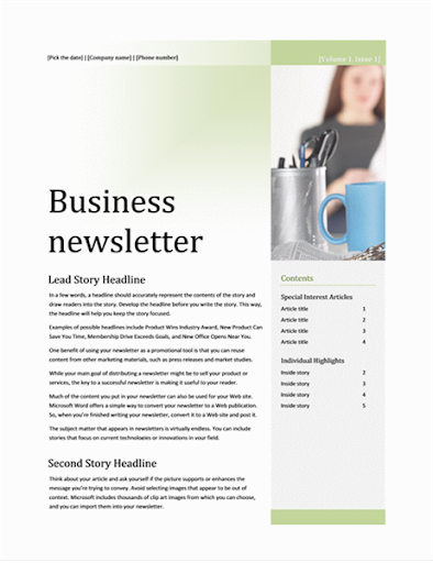 Free Email Newsletter Templates  screenshots 11