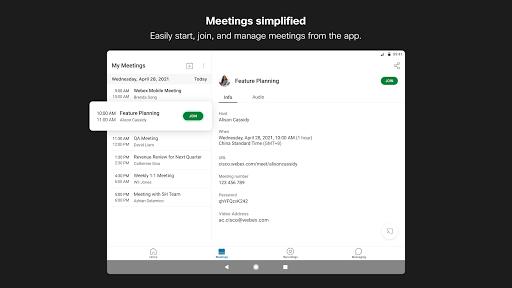 Foto do Cisco Webex Meetings