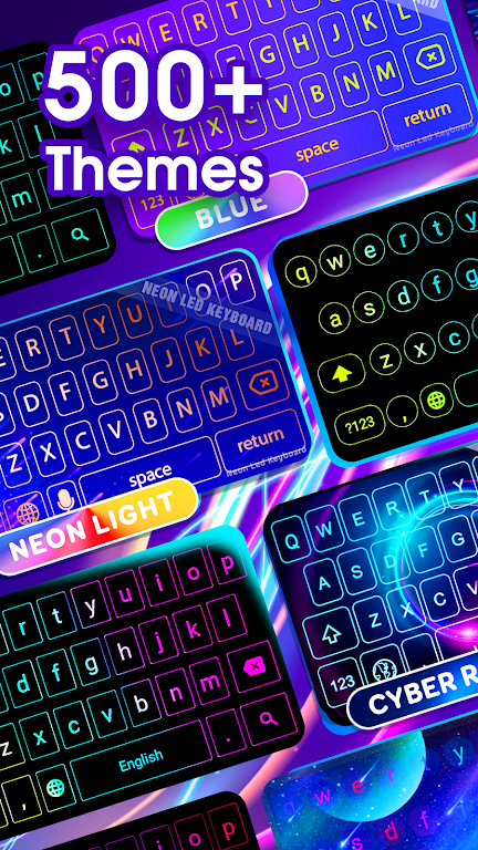 Neon LED Keyboard - RGB Lighting Colors poster 2