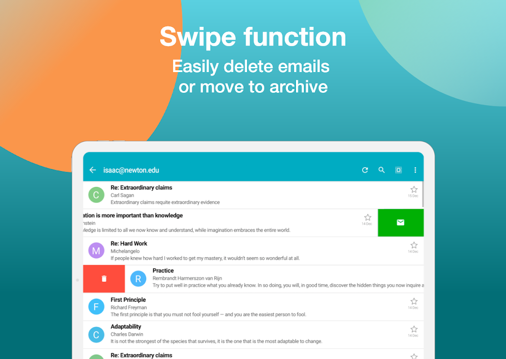 Email Aqua Mail - Exchange, SMIME, Smart inbox poster 14