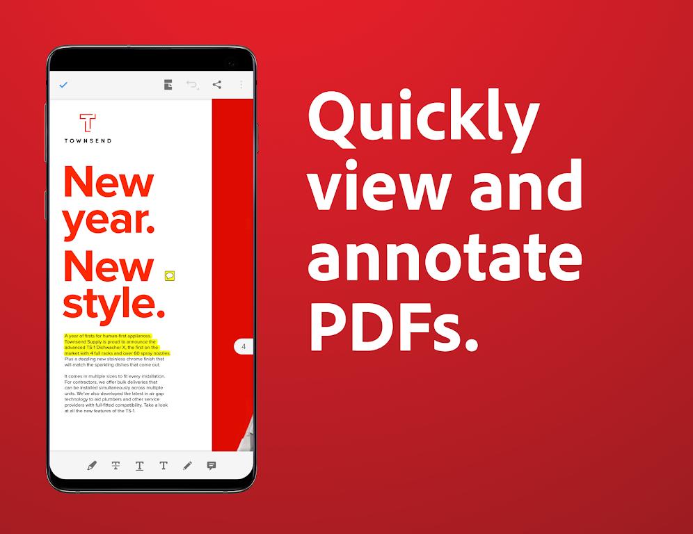 Adobe Acrobat Reader: PDF Viewer, Editor & Creator  poster 1