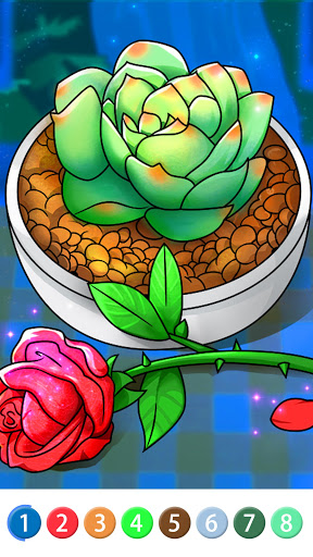 Coloring Book: Color by Number Oil Painting Games apkpoly screenshots 2