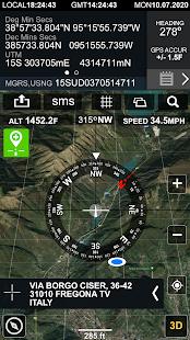 Digital Compas, Gps Status, Sensor information