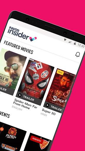 Paytm Insider: Movie Tickets, Events & Gameshows 4.5.5 Screenshots 2