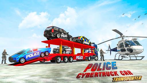 US Police CyberTruck Car Transporter: Cruise Ship 1.1.1 Screenshots 4