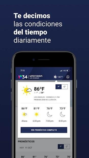 Screenshot 5 de Univision 34 Los Angeles para android