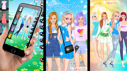 lovely sisters -  sisters dress up game screenshot 1