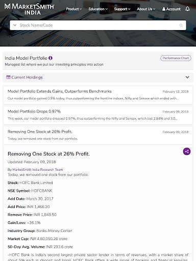 MarketSmith India - Stock Research & Analysis android2mod screenshots 23