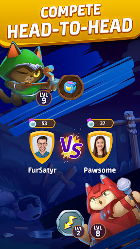 Cat Force - PvP Match 3 Puzzle Game  screenshots 2