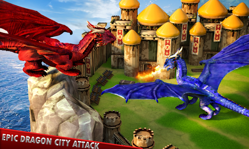 Flying Dragon Battle Simulator : City Attack  screenshots 3