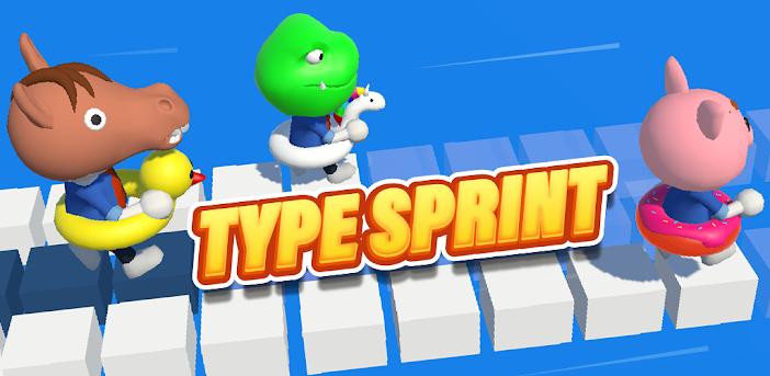 Type Sprint: Schnell schreiben. Renn-Spiele 3D