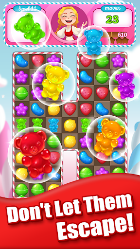 Sweet Candy Bomb: Crush & Pop Match 3 Puzzle Game 1.0.5 screenshots 4