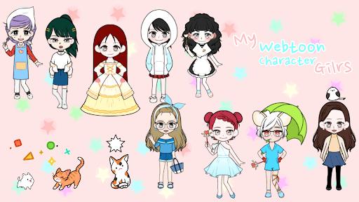 My Webtoon Character Girls - K-pop IDOL Maker  screenshots 1