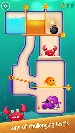Save the Fish - Pull the Pin Game android2mod screenshots 4