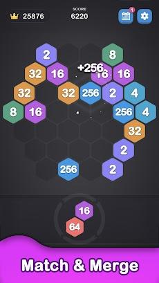 ヘキサゴン 2048 - 2048 Number Gamesのおすすめ画像2