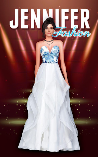 Code Triche Jennifer Lawrence Dressup - Fashion Salon 2020 (Astuce) APK MOD screenshots 1