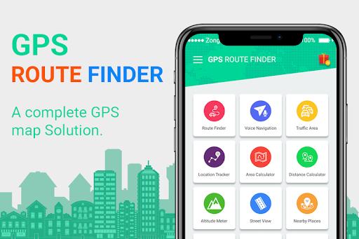 gps route finder : voice navigation, traffic alert screenshot 1