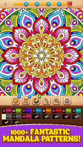 Cross Stitch Coloring Mandala screenshots 1