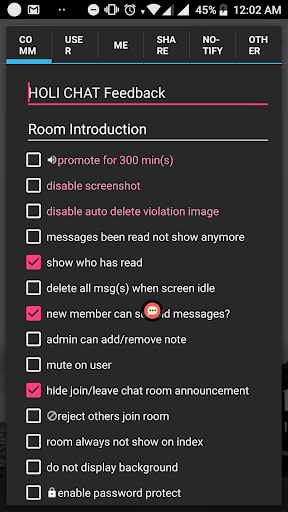 HOLI CHAT - a simple chat room apktram screenshots 4
