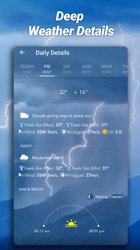 Accurate Weather: Weather Forecast, Clima Widget 1.1.8 Screenshots 8