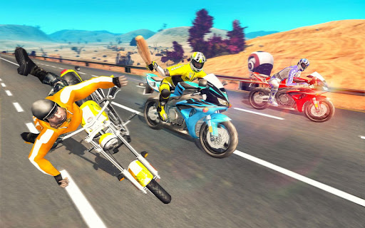 Bike Attack Race : Highway Tricky Stunt Rider android2mod screenshots 4