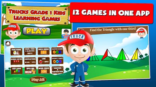first grade games: trucks screenshot 1