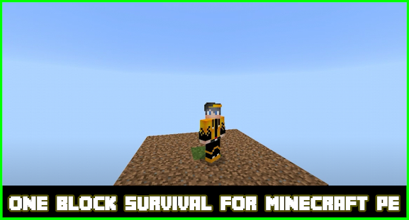 one block survival😱 for Minecraft PE ♥♥