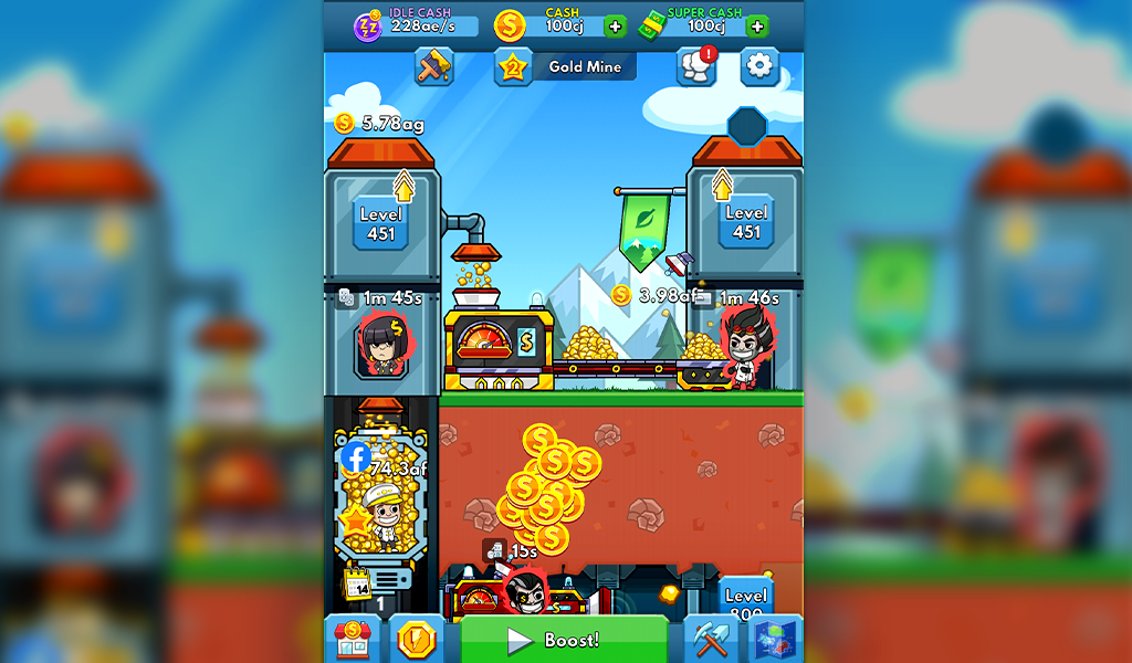 Idle Miner Tycoon: Gold & Cash Game MOD poster 13