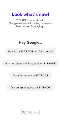 E*TRADE: Invest. Trade. Save.  screenshots 2