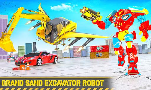 Grand Sand Excavator Robot Transform Robot Games 4.0.2 screenshots 1