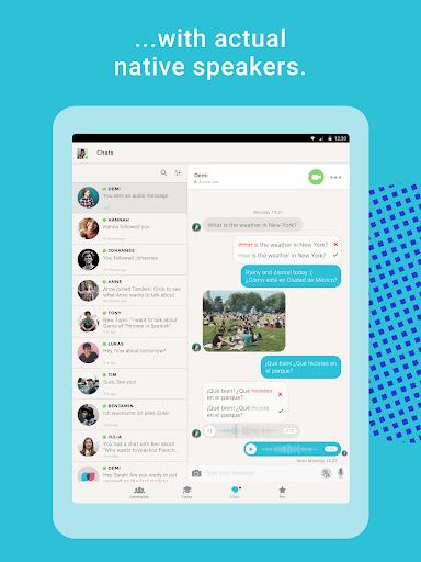 Tandem Language Exchange: Speak & learn languages 2.4.2 Screenshots 9