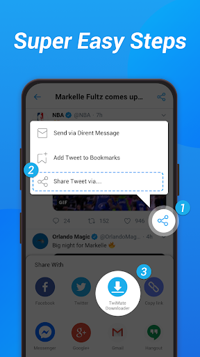 Download Twitter Videos - Save Twitter & GIF screenshots 1