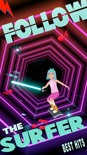 Code Triche Music Surfer - offline tap music games. Dance now (Astuce) APK MOD screenshots 1