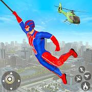 Flying Robot Superhero: Rescue City Survival Games