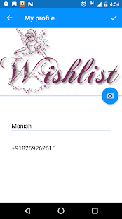 Wish List App Screenshot